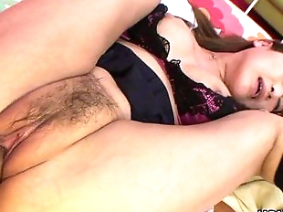 Asian skank gets her wet pusys dick filled up -..