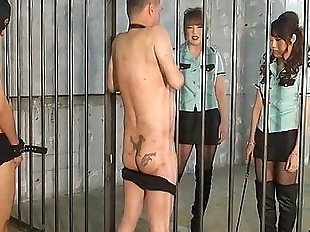 Japanese mistress whipping and foot worship - 1..