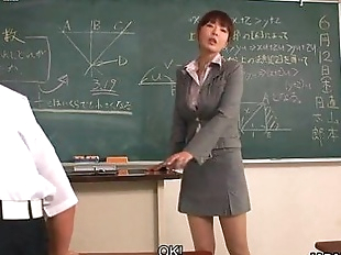 Teacher taking extra interest in couple of her..