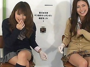 Japanese femdom give handjob and cunnilingus to..