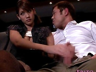 Japanese babe tugging and sucking in cinema - 8..