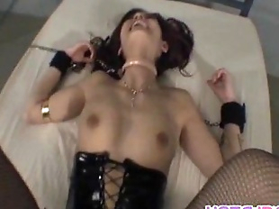 Mei Haruka in chains and stockings is fucked in..