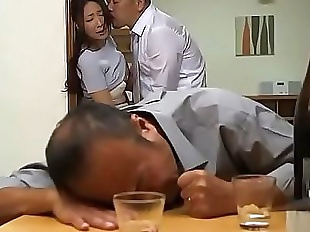 Japanese wife forced next drunk husband 22 min