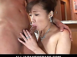 Japanese MiLF in a red evening gown fucked - 7 min