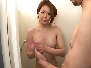 Serious shower adventure for horny China Mimura..