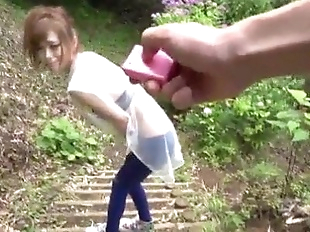 Top rated outdoor POV oral with kinky Mikuru..