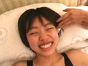 Subtitled real Japanese teen sneezing and tickle..