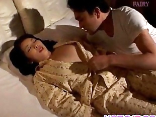 Reiko Hanasaki has nooky rubbed with thong and..