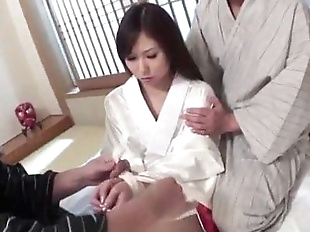 Karen is in for a naughty fuck along two men -..