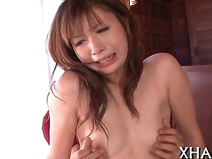 Asian gets milk sacks squeezed and pussy licked..