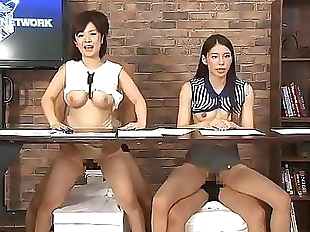 Japanese TV presenter buttfucked..