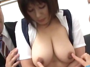 Busty Office Lady Getting Her Tits Massaged With..