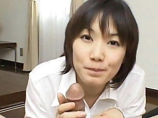 Alluring And Kinky Japanese Cutie Giving Head..