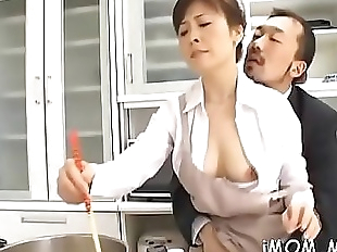 Ramrod hungry japanese mature sucks a big..
