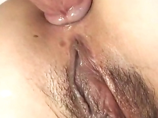 Skinny naked Japanese hoe in her hardcore anal..