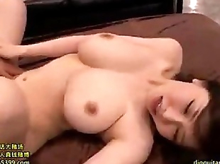 Japanese girl getting facial cum all over body...